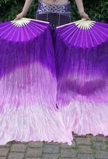 Fächerschleier  / Fan-Schleier aus Seide in lila Farbverlauf
