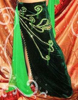 Bauchtanz Kostüm in Grün