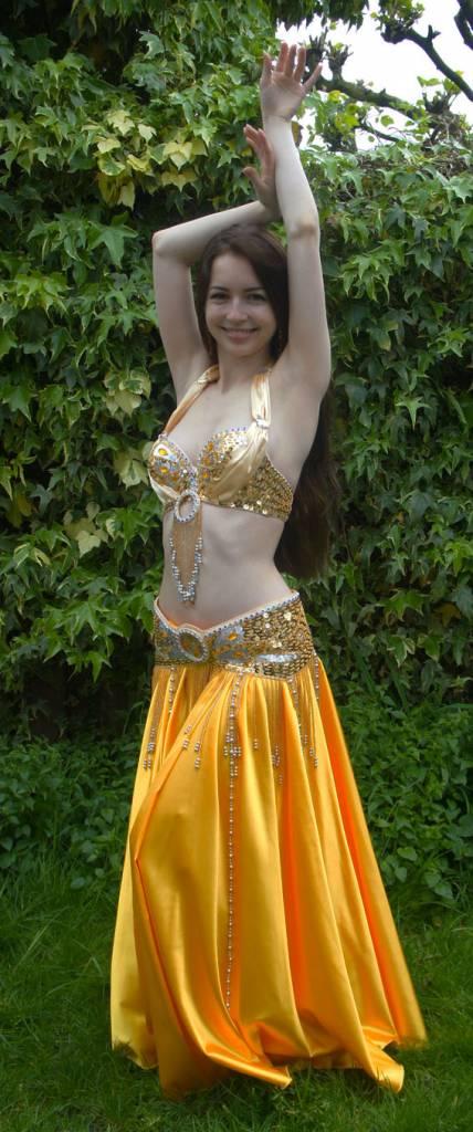 Bauchtanz-Kostüm 'Amber' in Gold