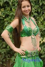 Bauchtanz-Kostüm 'Raja' in grün