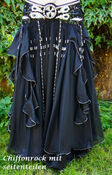 """Bauchtanz-Kostüm """"Jamila"""" in schwarz"""