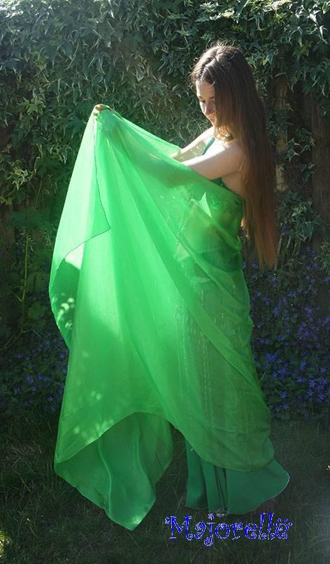 Seiden schleier in grün