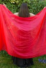 Seidenschleier in rot