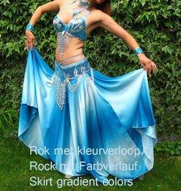 Bauchtanz-Kostüm Kenza in türkiis