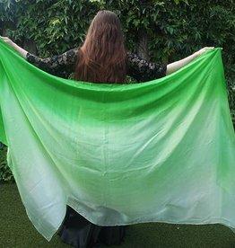 Seidenschleier in grün Farbverlauf