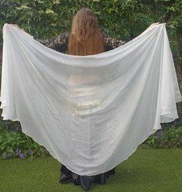 Bauchtanzschleier Halbrund aus Seide in weiß