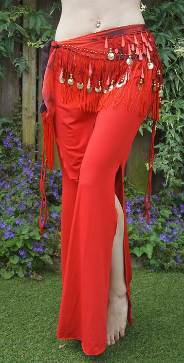 Hüfttuch mit schöne Pailletten in rot