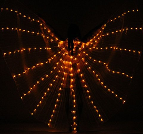 Isis wings gold led light