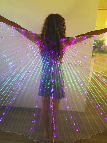 Isis wings lila led light