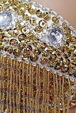 Sakkara BH bestickt mit silbernen und goldenen Elementen
