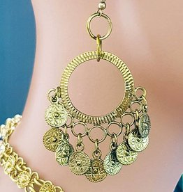Sakkara Orientalische Ohrringe mit kleinen Münzen