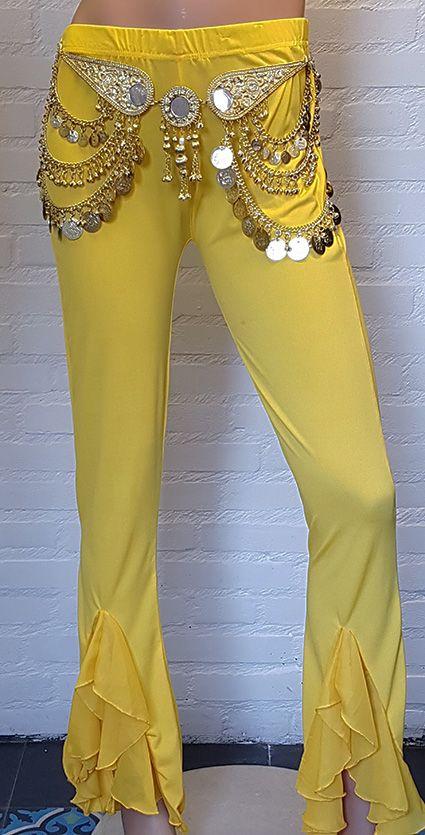 Sakkara Bauchtanz Hose in gelb