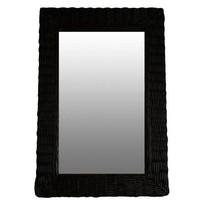 Rieten Wandspiegel Zwart- 52xH77 cm