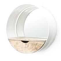 Witte Metalen Wandspiegel Ronde - Ø40 cm