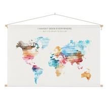 Wereldkaart  Verf Schoolplaat - 90xH60 cm