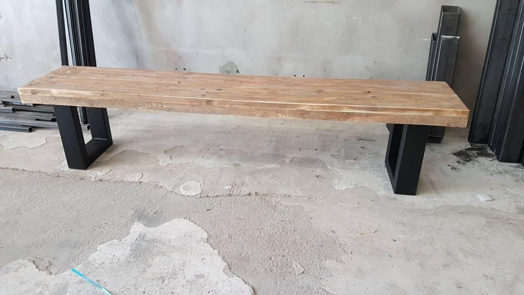 bankje passend bij eettafel u frame lengte bankje lengte breedte in cm ...