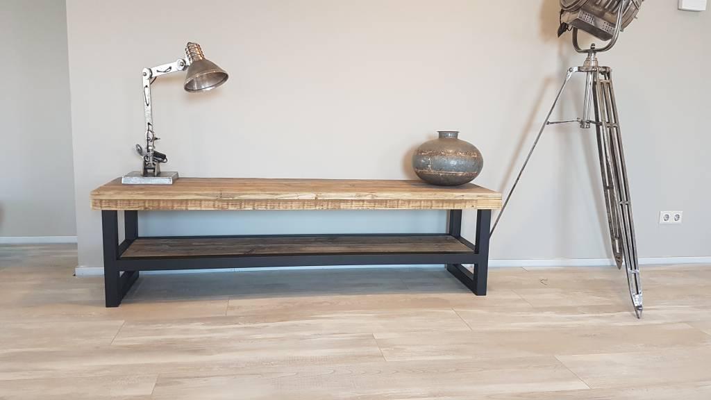 TV-meubel Hout u0026 Staal naar wens samen te stellen - Firma Hout u0026 Staal ...