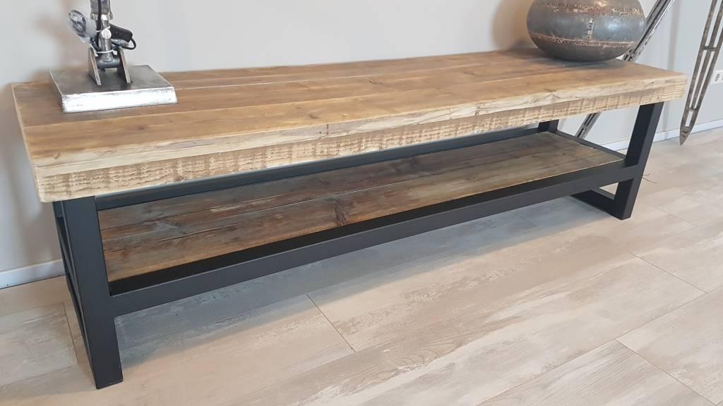 TV-meubel Hout & Staal naar wens samen te stellen - Firma Hout & Staa...