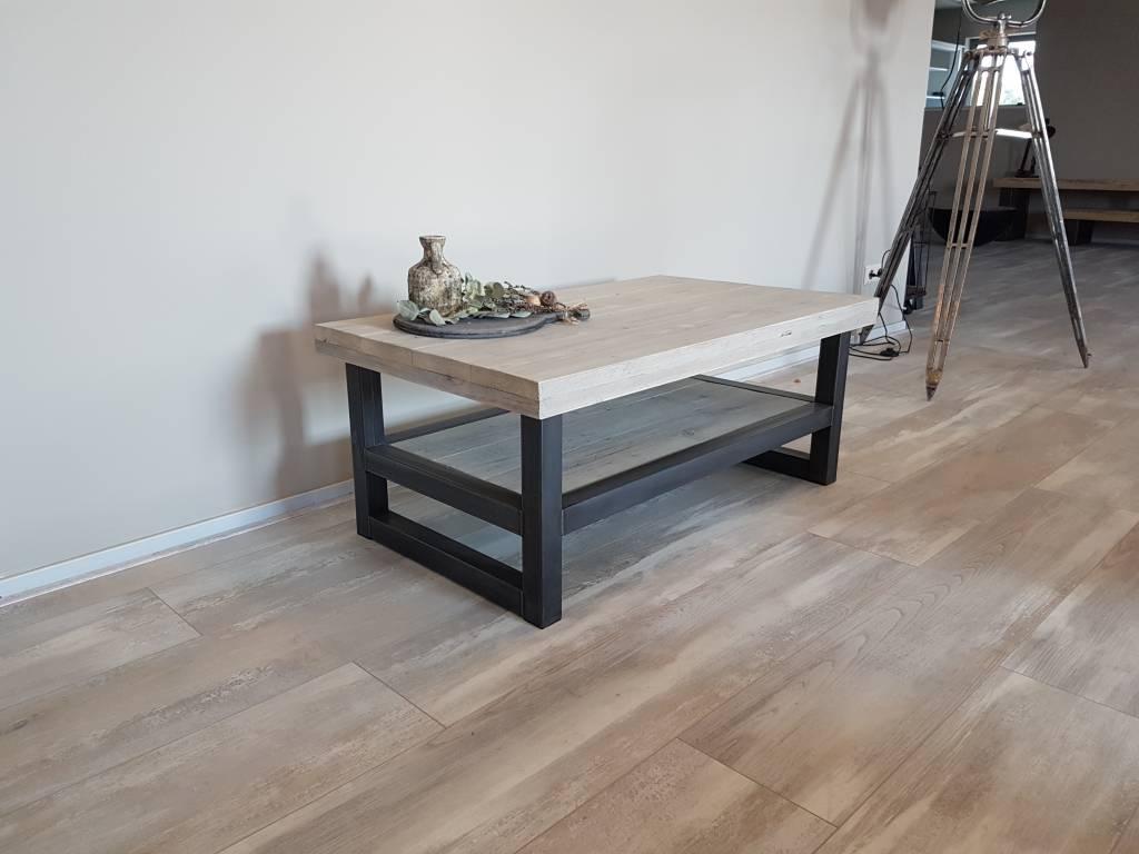 tv meubel hout staal naar wens samen te stellen firma