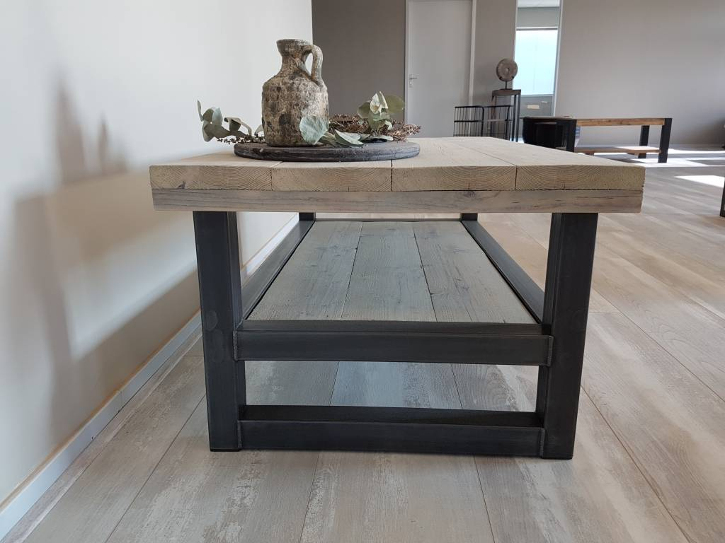 Tafel Hout Staal : Tafel staal hout gallery of industriele tafel olivia witte
