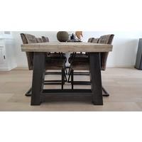 Eettafel A-frame Robuust (12x12 cm kokers)