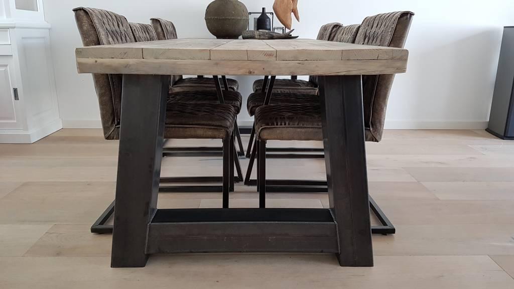 Eettafel naar wens samen te stellen   Firma Hout  u0026 Staal
