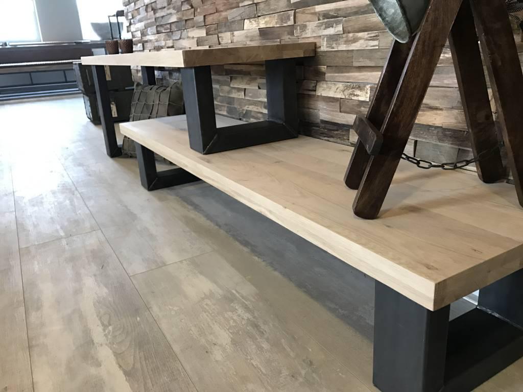 Eikenhout Tv Meubel : Tv meubel hoog laag firma hout staal