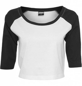 Urban Classics Ladies Cropped 3/4 Tee