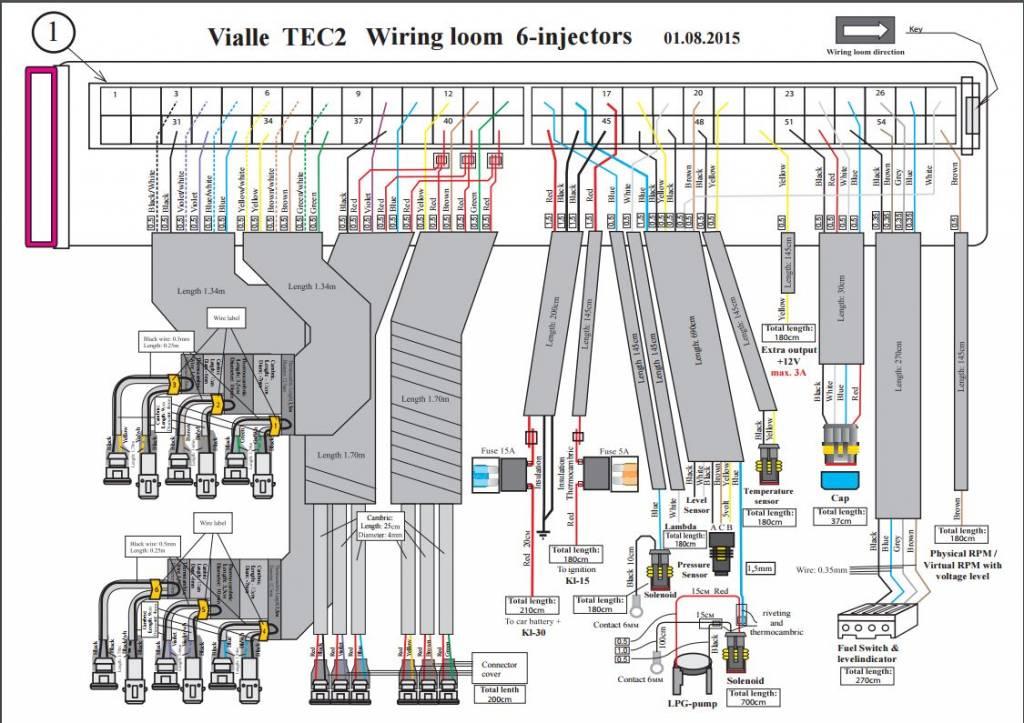 LiquidSi Ecu, un faisceau de câblage et un commutateur
