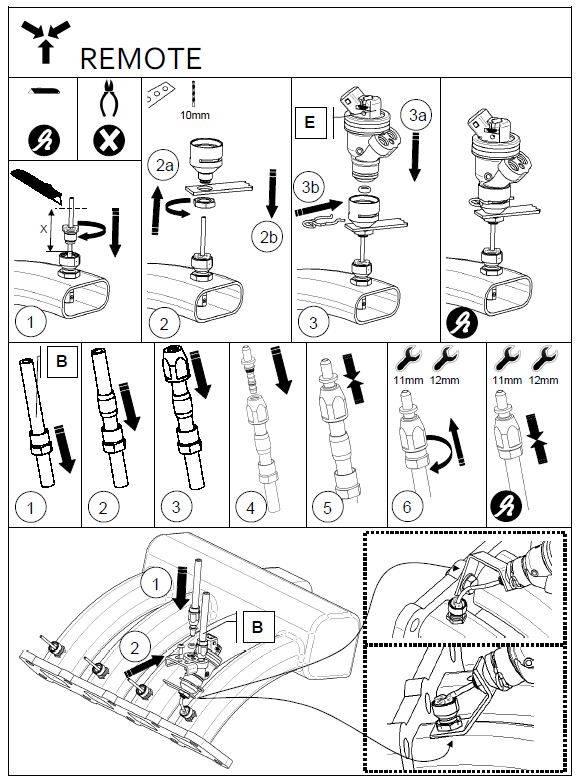 LiquidSi Rampe d'alimentation en carburant 1x3 | 3 Cylindres