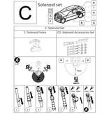 LiquidSi Комплект фиттингов к электроклапану