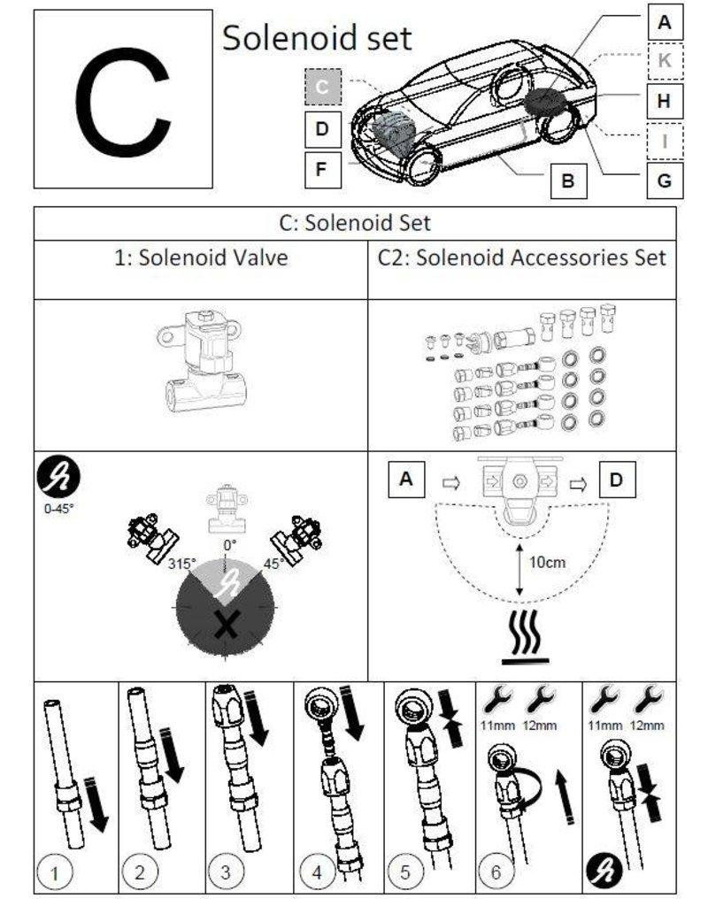 LiquidSi Accesorio de la válvula solenoide