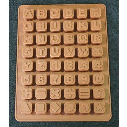 Buchstaben Würfel- Silikonform Seifenform Duftsteinform Backform