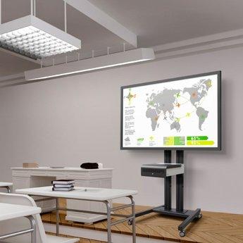 Vogel's SET TD 2084 Black - 208 cm Verrijdbare TV Standaard