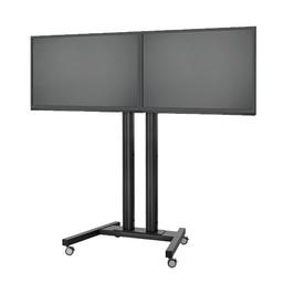 Vogel's SET TD/D 1865 Black 188 cm Verrijdbare TV Standaard
