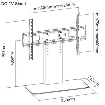 DQ TV Tafelstandaard Basic Zwart Universeel