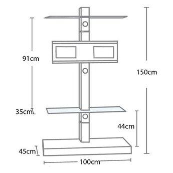 L&C Design Jolly Tower 2 Zwart TV Standaard