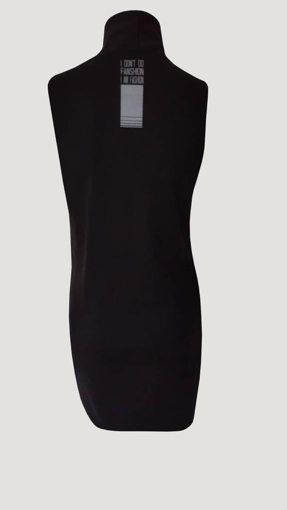 Sleeveless long gillet (Black)