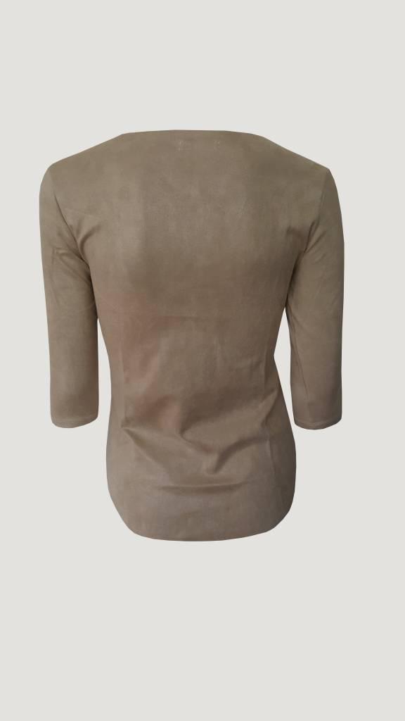 Suede Shirt Beige