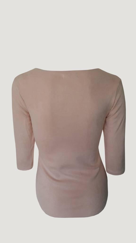 Suede shirt roze