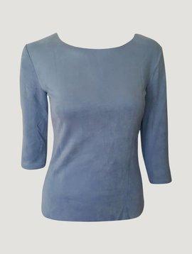 Suede shirt blauw