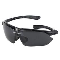 Sport Brille - extra Brille für Linsen - mit 3 zusätzlichen Linsen - UV400 - schwarz