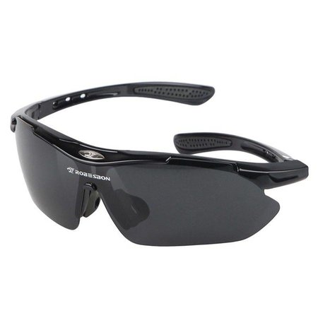 Vision sportbril - extra inzetstuk voor glazen op sterkte - 3 uitwisselbare glazen - UV400 - zwart