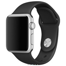 Siliconen band Apple compatible zwart