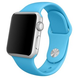 Siliconen band Apple compatible blauw