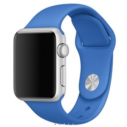 Siliconen band Apple compatible royale blauw