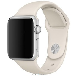 Siliconen band Apple compatible royale antique white