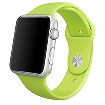 Siliconen band Apple compatible groen