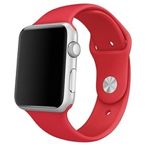 Siliconen band Apple compatible red
