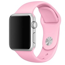 Siliconen band Apple compatible pink